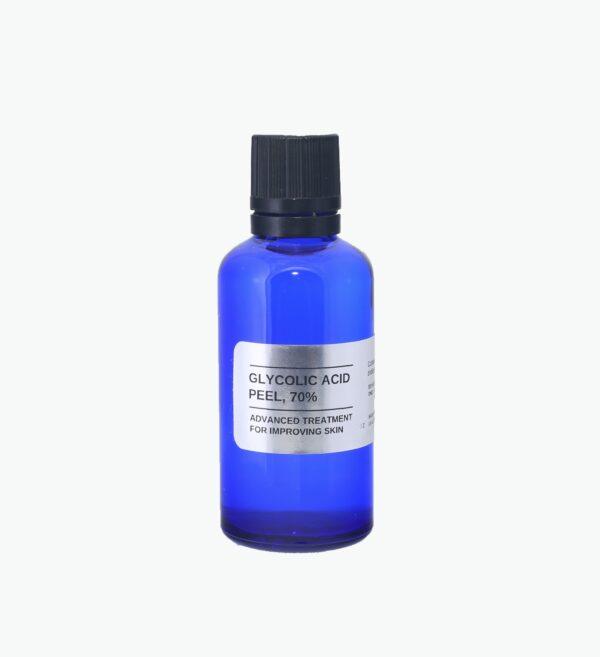 Glycolic acid skin peel, 5% - 70%