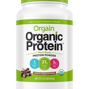 Organic Plant Protein Powder, Creamy Chocolate Fudge