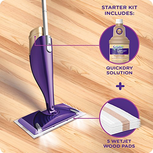 Buy Swiffer Wetjet Wood Floor Spray Mop Starter Kit