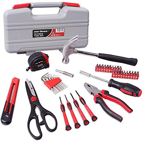 CARTMAN Red 39-Piece Cutting Plier Tool Set General Household Hand Tool Kit