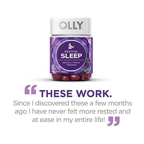 Buy Olly Restful Sleep Melatonin Gummy 50 Gummies Blackberry Zen