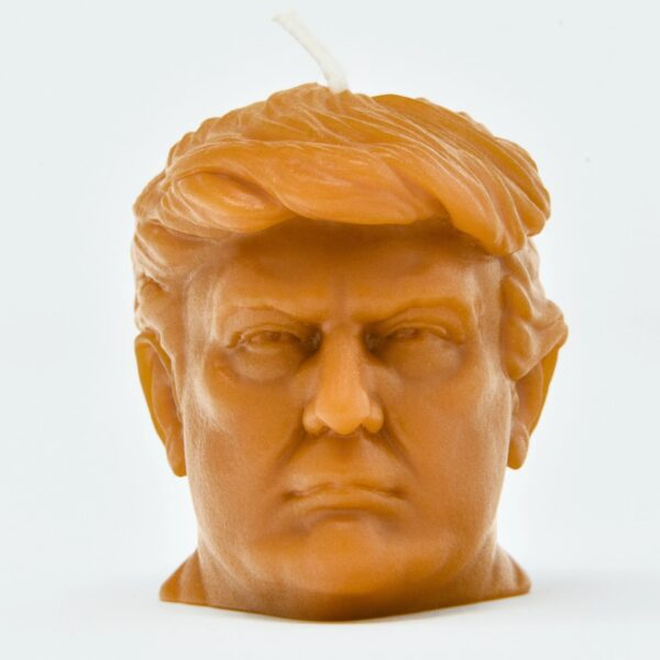 Donald Trump Head Candle
