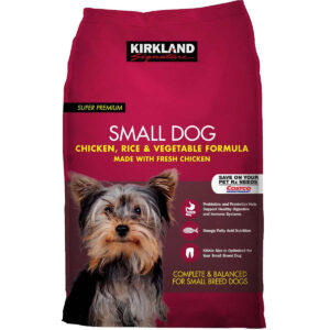 Kirkland Signature Small Breed Adult Dog Formula Chicken, Rice & Vegetables 20lb Bag